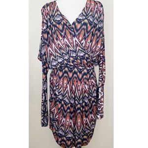 Tbags Los Angeles Plus Size Cross Front Dress 3x